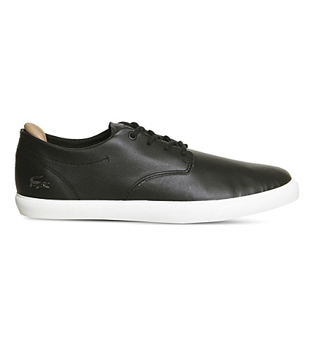 LACOSTE Espere leather trainers (Black+off+white