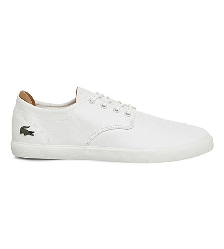 LACOSTE Espere canvas trainers (Off+white+canvas