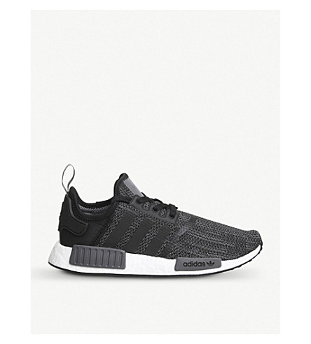 ADIDAS NMD R1 Primeknit trainers (Core+black+grey