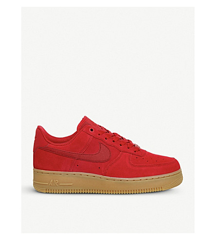 NIKE Air force 1 07 suede trainers (Speed+red+gum