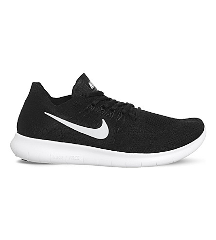 NIKE Free Run 2 Flyknit trainers (Black+white
