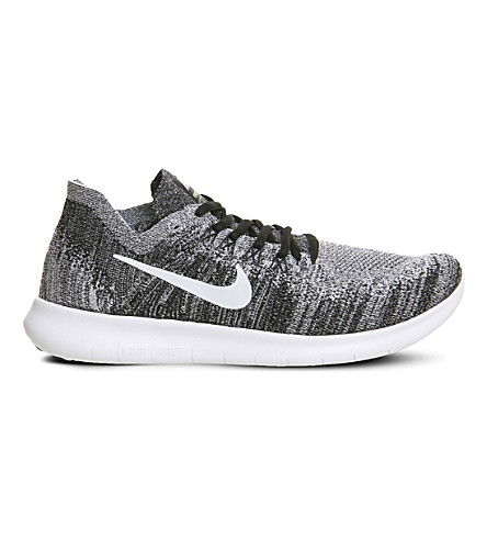 NIKE Free Run 2 Flyknit trainers (Grey+black+volt+m