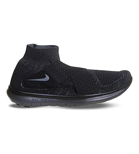 NIKE Free Run Motion Flyknit trainers (Black+dark+grey