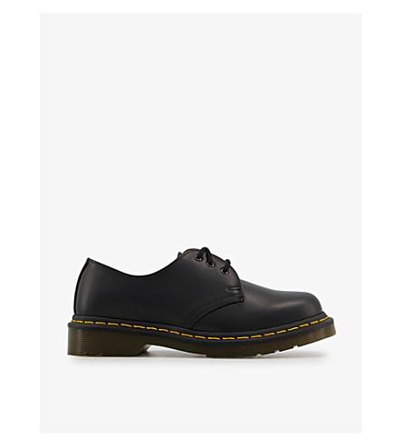 DR.貂 1461 3-眼睛皮革鞋履 (黑色