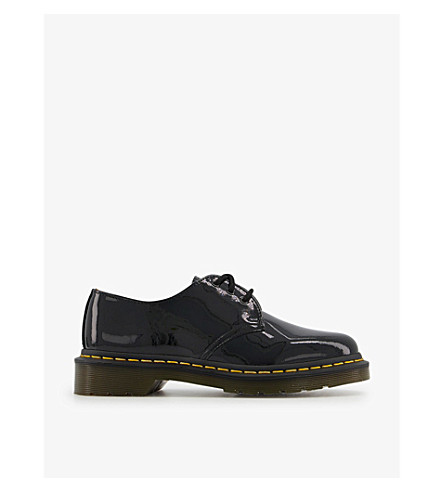 DR. MARTENS 1461 3-eye patent leather shoes (Black+patent