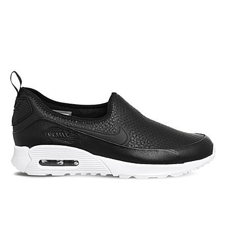 NIKE Air Max 90 Ultra 2.0 EZ leather trainers (Black+black+white
