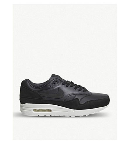 NIKE Nike Lab Air Max 1 Pinnacle leather trainers (Black+anthracite