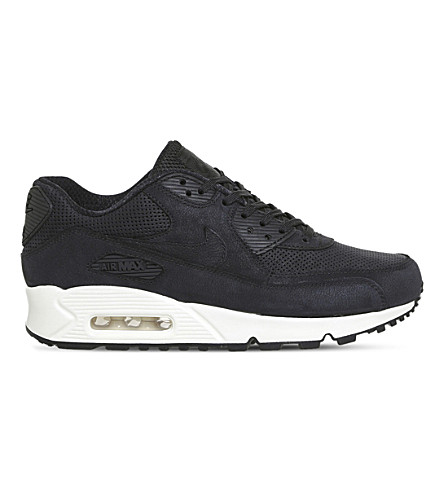 NIKE Air Max 90 Pinnacle leather trainers (Black+black+sail