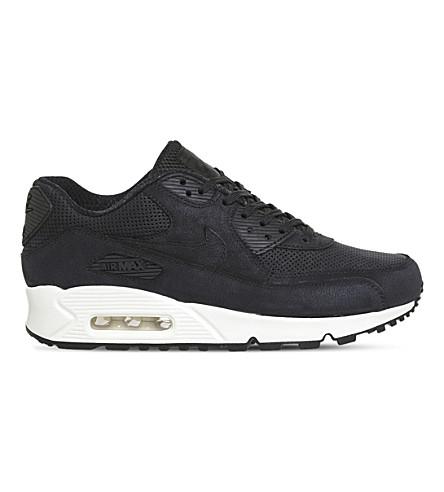 NIKE Air Max 90 Pinnacle leather sneakers (Black+black+sail