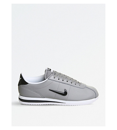 NIKE Cortez Jewel leather trainers (Dust+black+sail