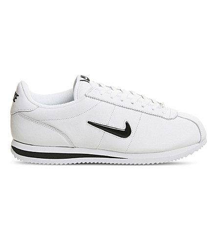 NIKE Cortez jewel leather trainers (White+black