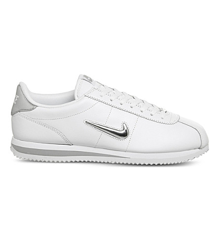 NIKE Cortez Jewel leather trainers (White+silver