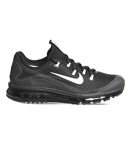 NIKE Air Max More mesh trainers (Black+white+grey