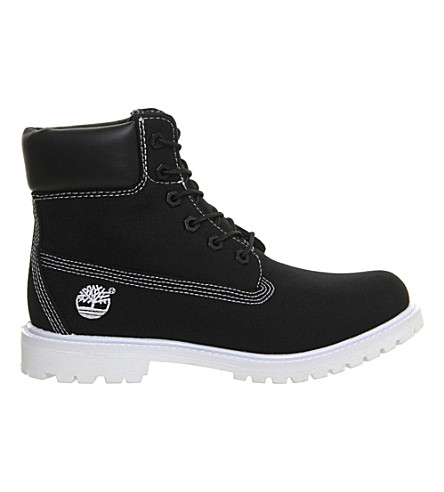 TIMBERLAND Premium 6-inch boots (Black canvas white s
