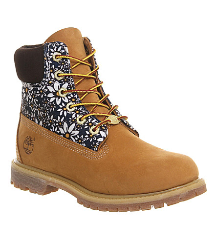 TIMBERLAND Premium 6-inch boot with daisy print (Wheat daisy print nk