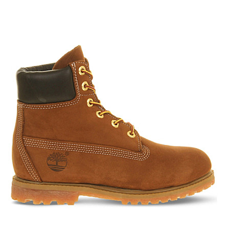 TIMBERLAND Premium 6-inch suede boots (Rust+nubuck