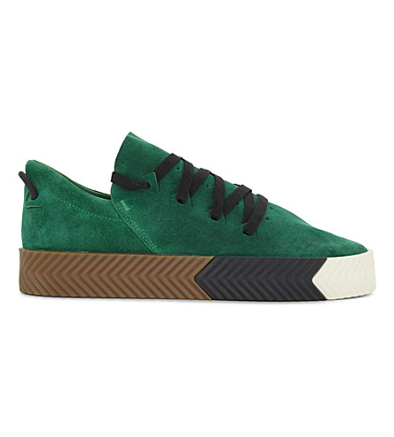 ADIDAS Suede skate shoes (Green+boost