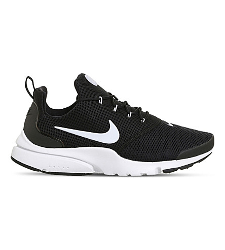 NIKE Presto Fly mesh trainers (Black+white