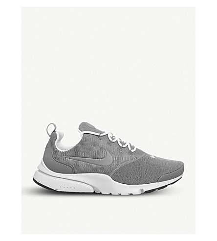 NIKE Presto Fly mesh trainers (Grey+white