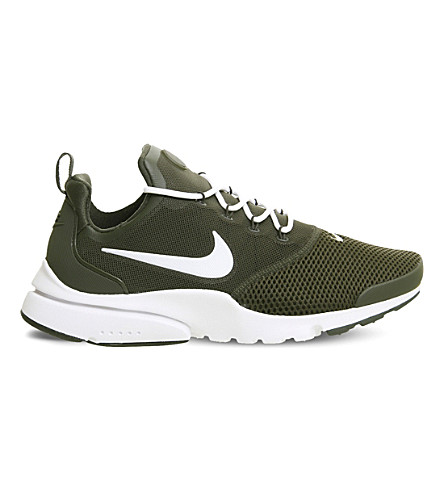 NIKE Presto Fly mesh and rubber trainers (Cargo+khaki