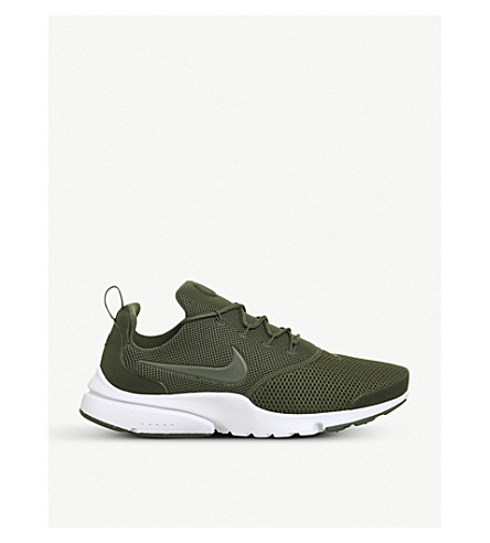 NIKE Presto Fly mesh trainers (Medium+olive+white