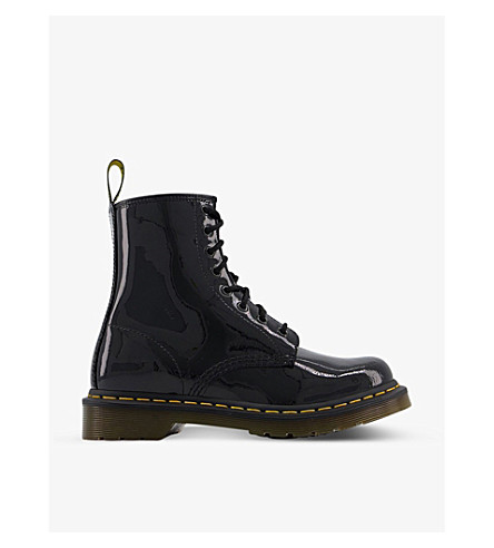 DR. MARTENS 1460 8-eye patent leather boots (Black+patent