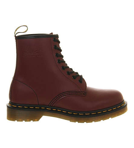 DR. MARTENS 1460 8-eye leather boots (Cherry+red