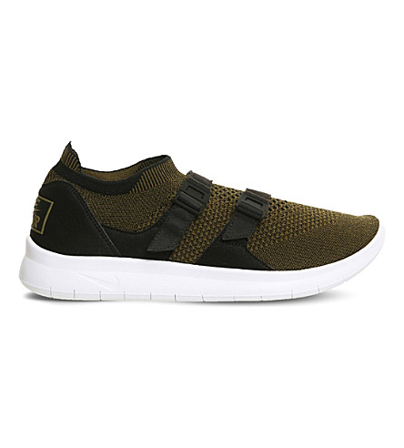 NIKE Air Sock Racer Ultra Flyknit trainers (Black+olive