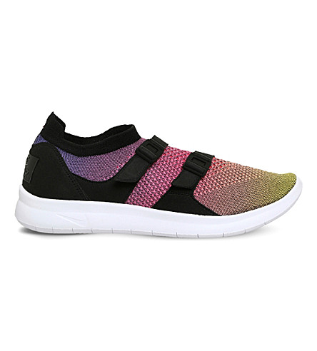 NIKE Air Sock Racer Ultra Flyknit trainers (Yellow+strike+pink