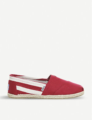 TOMS University Classic striped canvas espadrilles