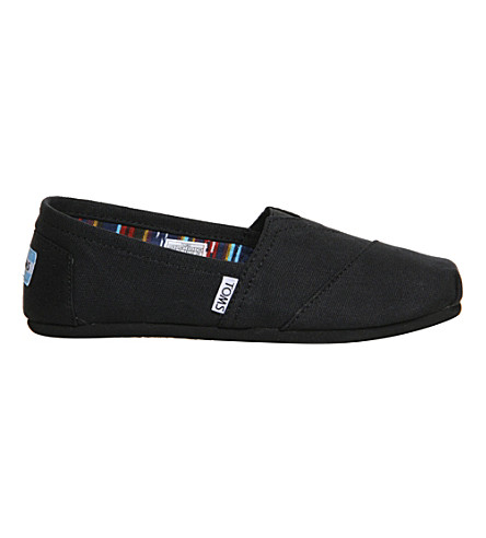 TOMS Classic canvas shoes (Black+mono