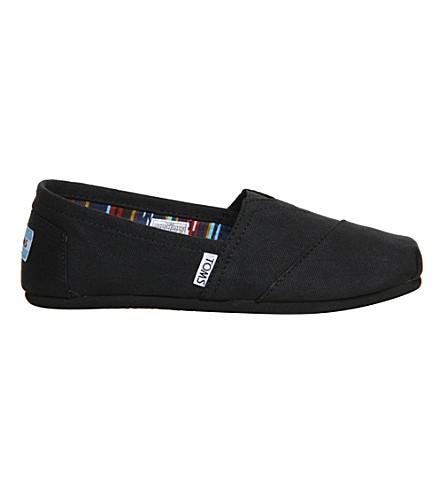 TOMS Classic canvas shoes (Black mono