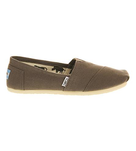 TOMS 经典帆布帆布鞋 (灰 + 灰 + 帆布