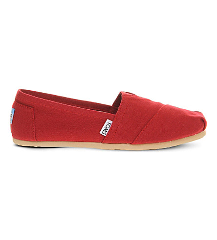 TOMS Classic canvas shoes (Red