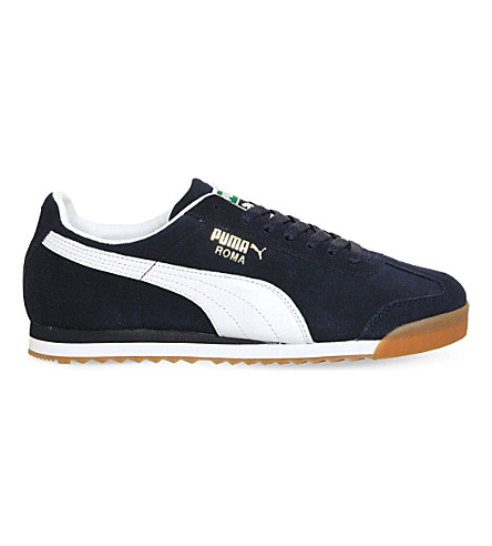 PUMA Roma suede trainers (Navy white gum
