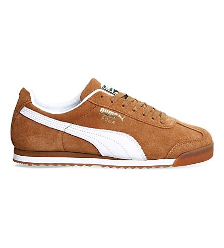 PUMA Roma suede trainers (Chestnut white gum