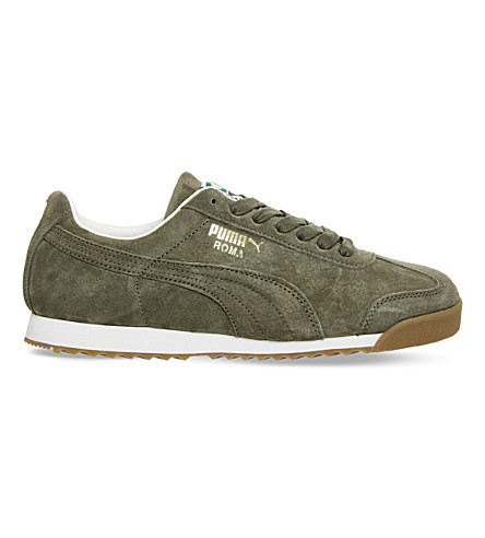 PUMA Roma suede trainers (Burnt olive white