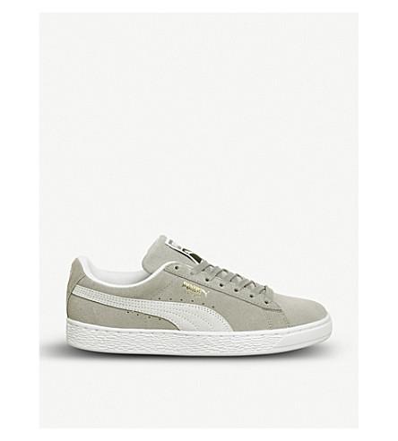 PUMA Suede classic basket trainers (Ash+grey+puma+white