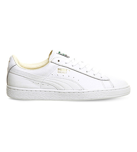 PUMA Basket Classic leather trainers (White+white