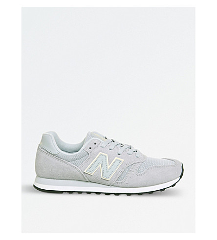 NEW BALANCE 373 suede trainers (Grey+pink