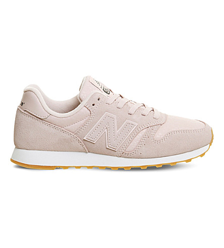 NEW BALANCE 373 suede and nylon trainers (Pink+gum