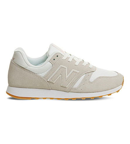 NEW BALANCE 373 suede and nylon trainers (Cream+gum
