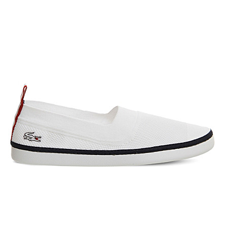 LACOSTE L.ydro canvas trainers (White