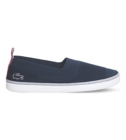 LACOSTE L.ydro canvas trainers (Navy