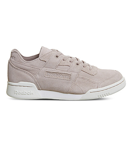 REEBOK Workout plus suede trainers (Shell+pink+chalk