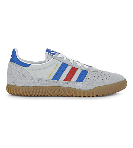 ADIDAS Indoor Super suede trainers (Clear+onix+blue+red