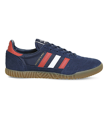 ADIDAS Indoor Super suede trainers (Mystery+blue+white