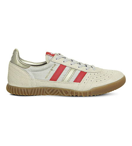 ADIDAS Indoor Super suede trainers (Clear+brown+red