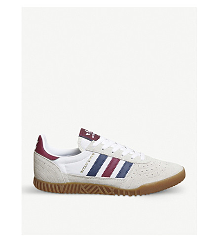 ADIDAS Indoor Super low-top suede trainers (Clear+brown