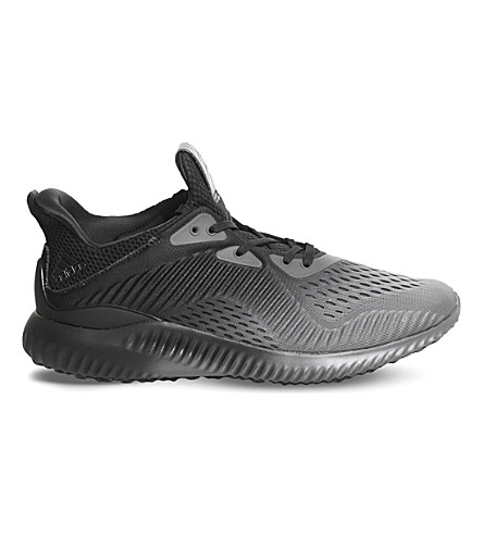 ADIDAS Alphabounce mesh trainers (Black+mono+em